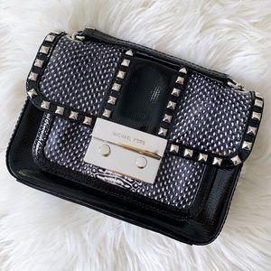 Michael Kors Sloan Black Studded Crossbody Bag